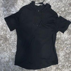 Carbon short sleeve hoodie